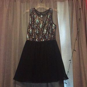 Dresses & Skirts - Rose gold and blue shirt formal dress